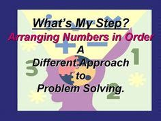 State the steps of problem solving in their correct order